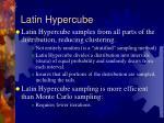 latin hypercube