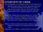 overview of @risk1