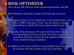risk optimizer2
