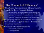 the concept of efficiency