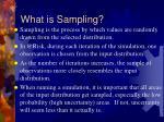 what is sampling