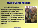 nurse corps mission