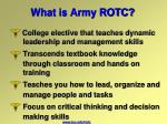 what is army rotc