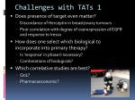 challenges with tats 1