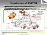 contribution of kyoto
