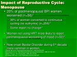 impact of reproductive cycle menopause