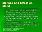 menses and effect on mood