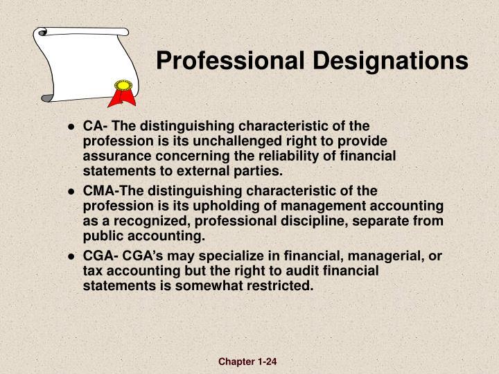 Professional Designations
