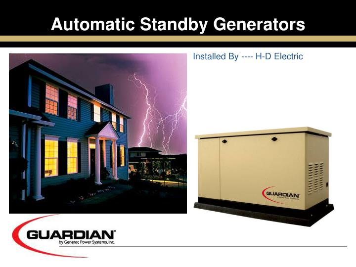 automatic standby generators n.