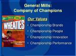 general mills company of champions