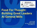 june 23 2006 kevin d wilde vp chief learning officer general mills inc