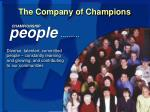 the company of champions