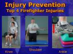 injury prevention top 4 firefighter injuries
