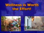 wellness is worth the effort