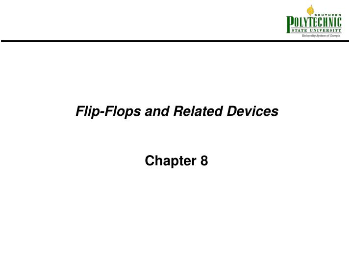 flip flops and related devices n.