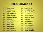 180 ers divisie 1a