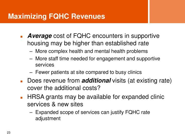 Maximizing FQHC Revenues