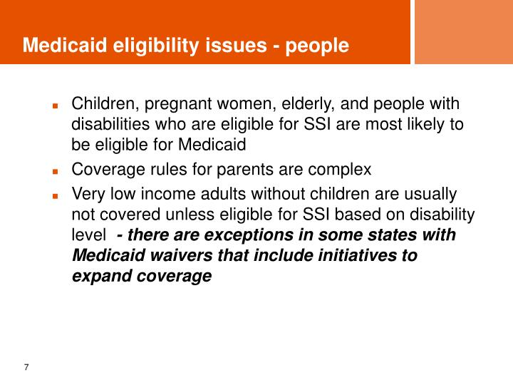 Medicaid eligibility issues - people