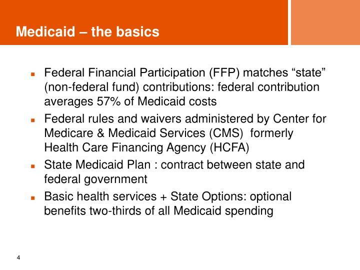 Medicaid – the basics