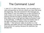the command love