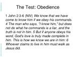the test obedience