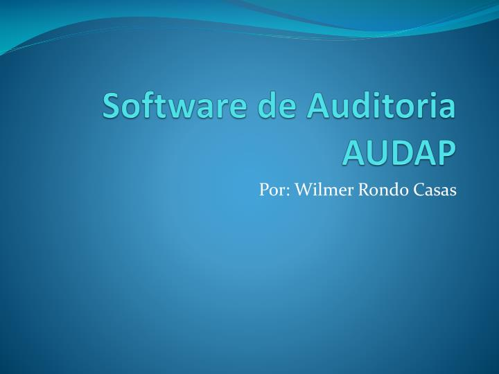 software de auditoria audap n.