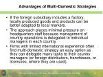 advantages of multi domestic strategies