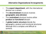 alternative organizational arrangements