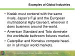 examples of global industries