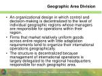 geographic area division