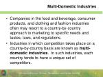 multi domestic industries