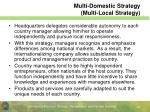 multi domestic strategy multi local strategy