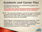 academic and career plan1