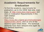 academic requirements for graduation