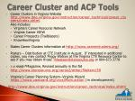 career cluster and acp tools