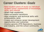career clusters goals