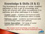 knowledge skills k s