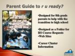 parent guide to r u ready