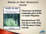 ready or not resource guide