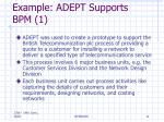 example adept supports bpm 1