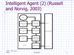 intelligent agent 2 russell and norvig 2003