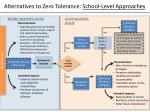 alternatives to zero tolerance school level approaches