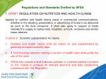 regulations and standards drafted by sfda1