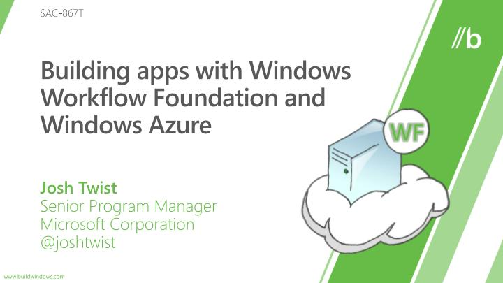 building apps with windows workflow foundation and windows azure n.