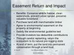 easement return and impact