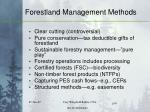 forestland management methods
