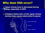 why does osa occur1