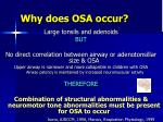 why does osa occur3