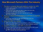 how microsoft partners with the industry