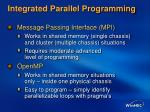 integrated parallel programming